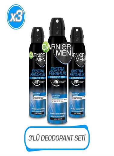 Garnier Garnier 3'lü Men Ekstra Ferahlık AerosolSeti Renksiz